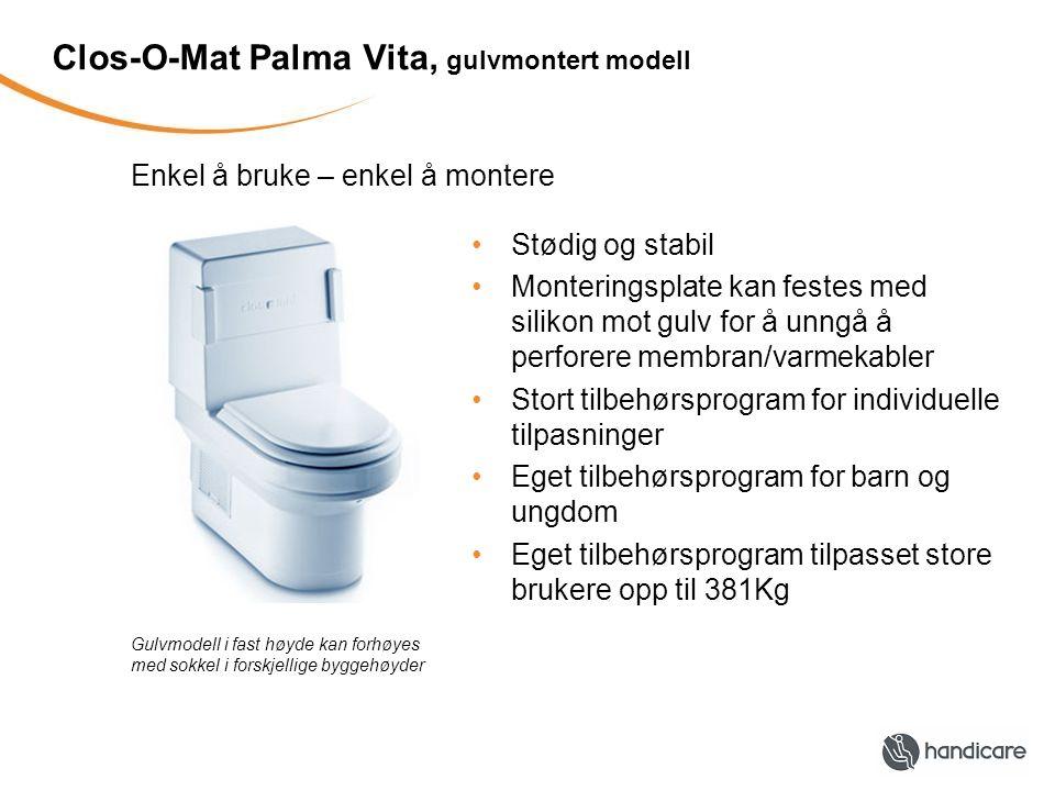 Clos-O-Mat Palma Vita, gulvmontert modell