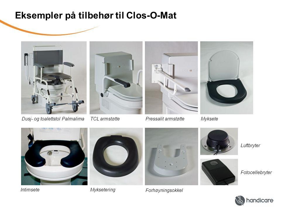 Eksempler på tilbehør til Clos-O-Mat