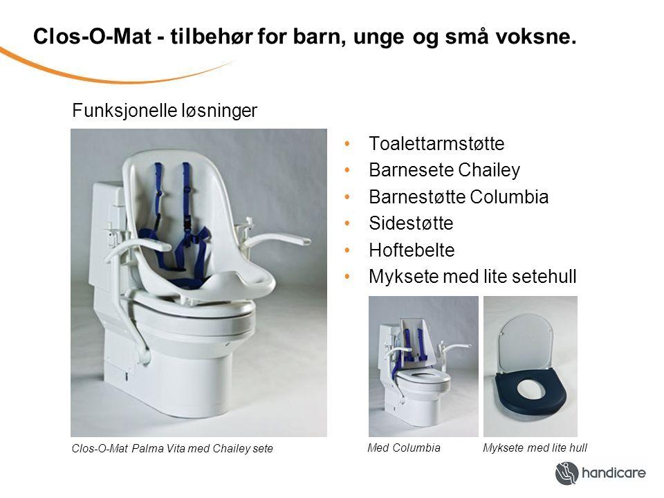 Clos-O-Mat - tilbehør for barn, unge og små voksne.