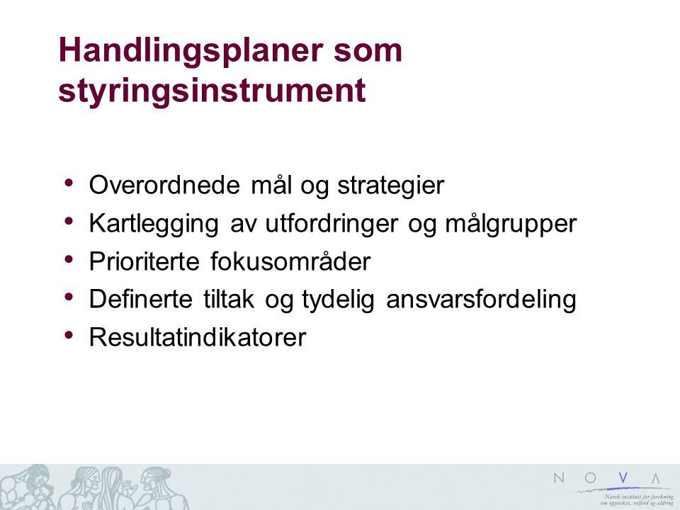 Handlingsplaner som styringsinstrument