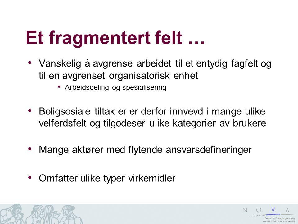 Et fragmentert felt … Vanskelig å avgrense arbeidet til et entydig fagfelt og til en avgrenset organisatorisk enhet.