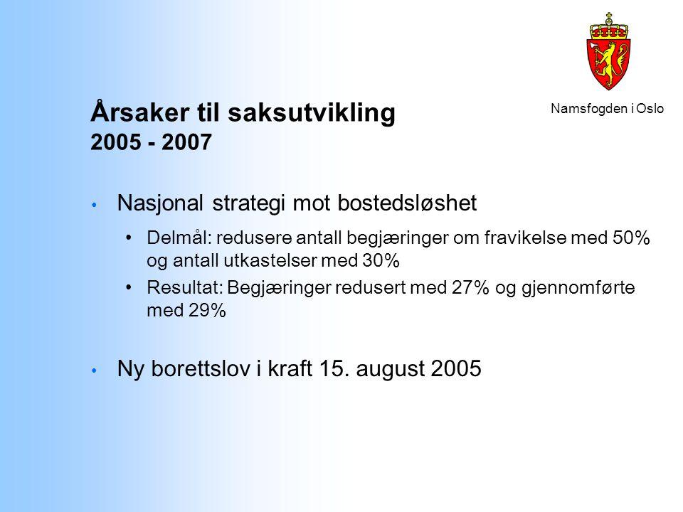 Årsaker til saksutvikling 2005 - 2007