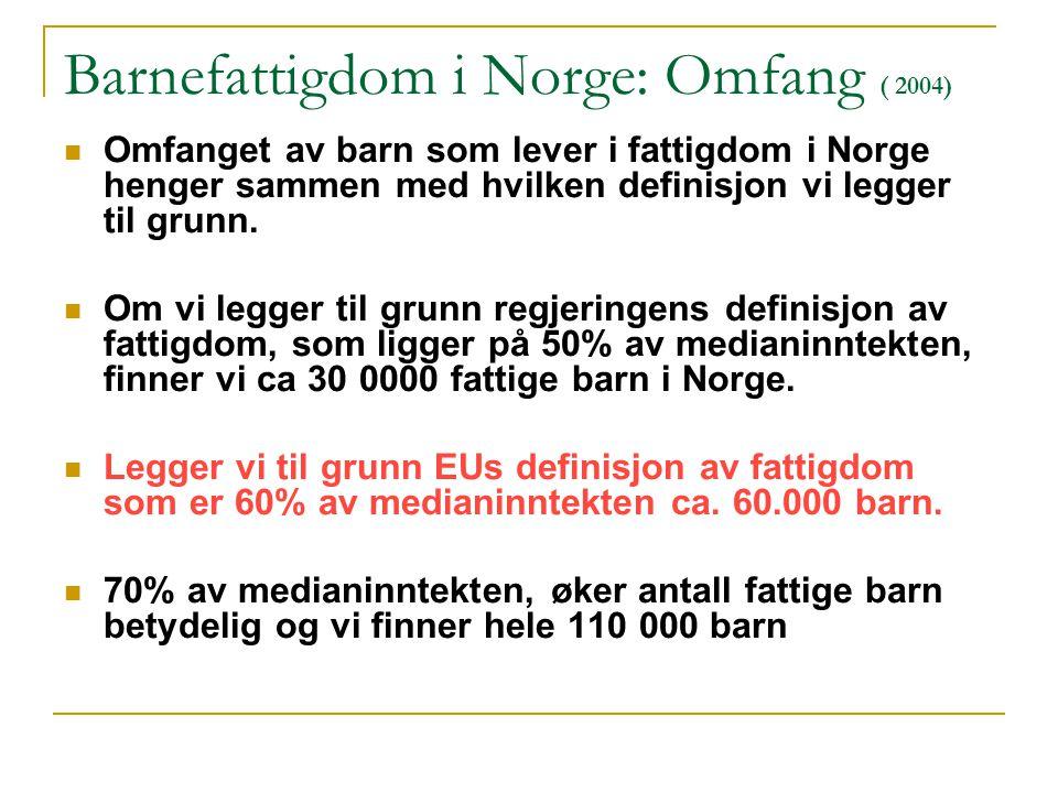 Barnefattigdom i Norge: Omfang ( 2004)