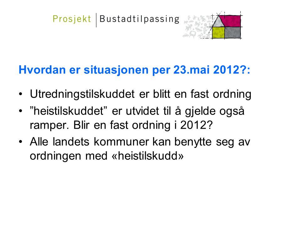 Hvordan er situasjonen per 23.mai 2012 :