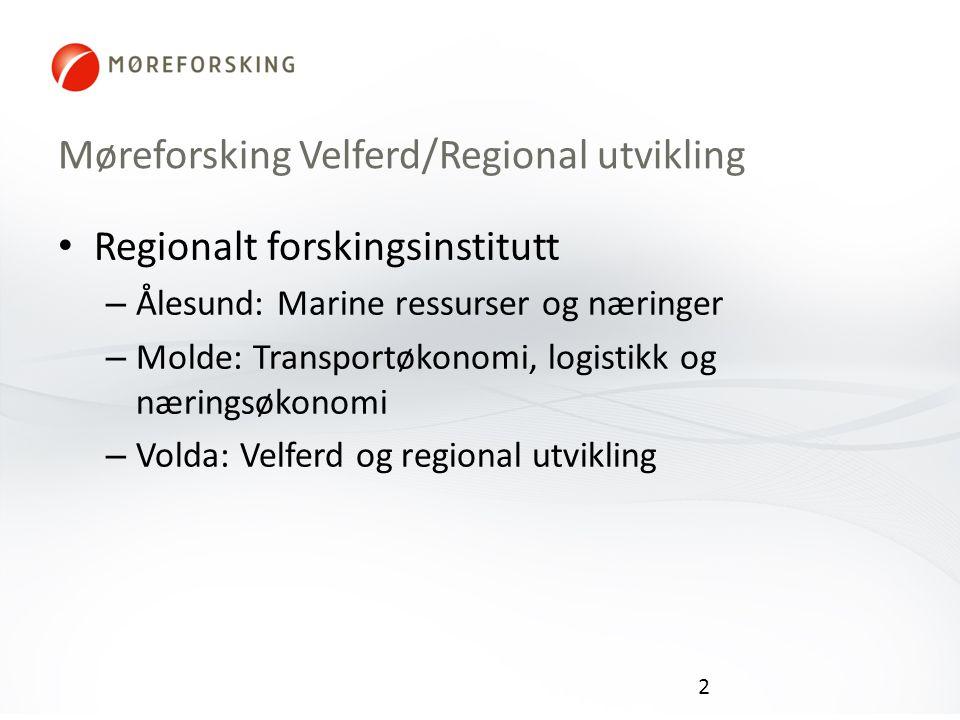 Møreforsking Velferd/Regional utvikling