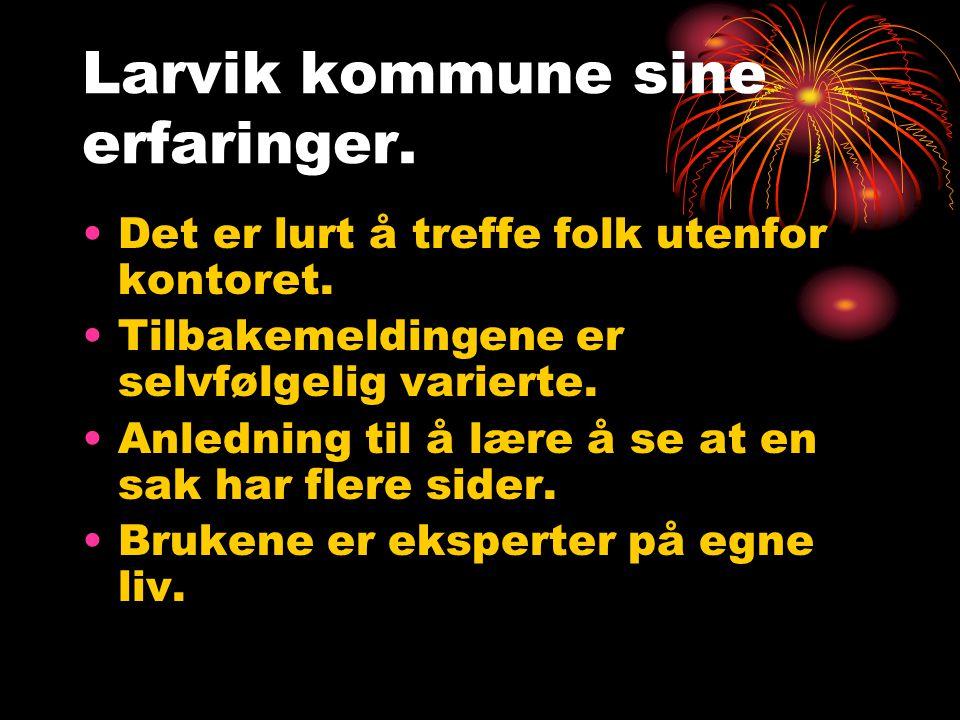 Larvik kommune sine erfaringer.