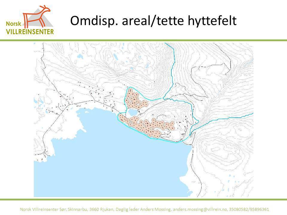 Omdisp. areal/tette hyttefelt