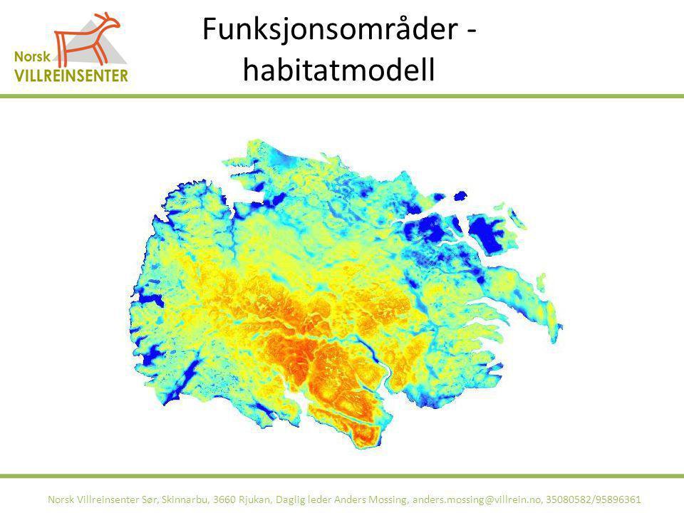 Funksjonsområder - habitatmodell