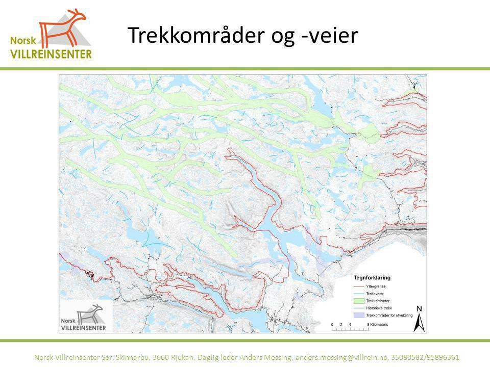 Trekkområder og -veier