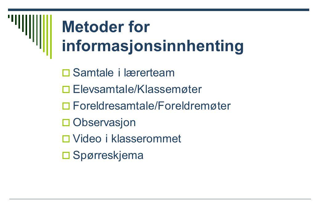 Metoder for informasjonsinnhenting