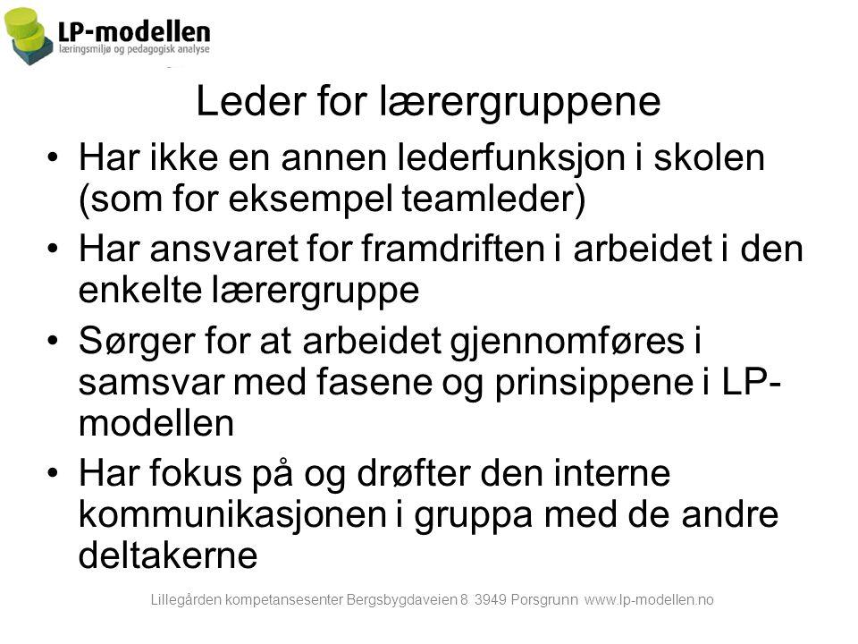 Leder for lærergruppene