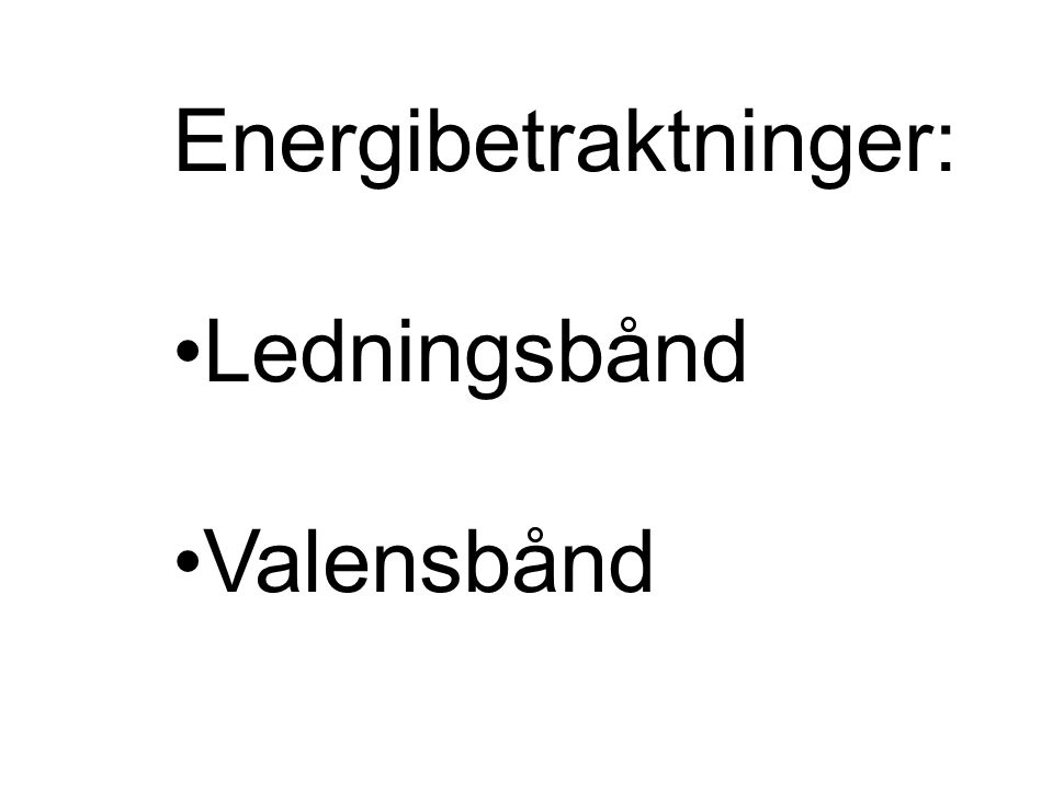 Energibetraktninger: