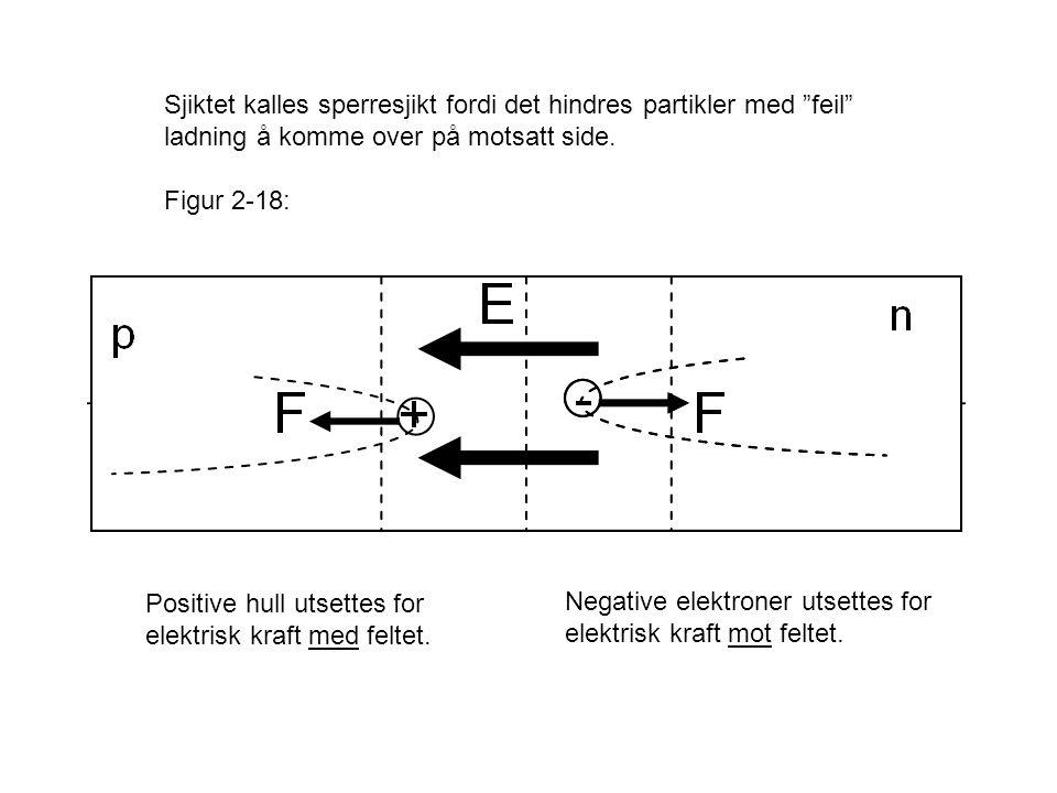 Sjiktet kalles sperresjikt fordi det hindres partikler med feil