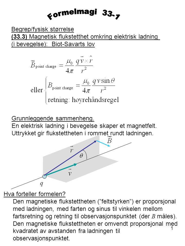 Formelmagi 33-1 Begrep/fysisk størrelse