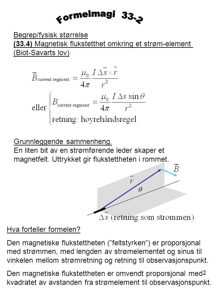 Formelmagi 33-2 Begrep/fysisk størrelse