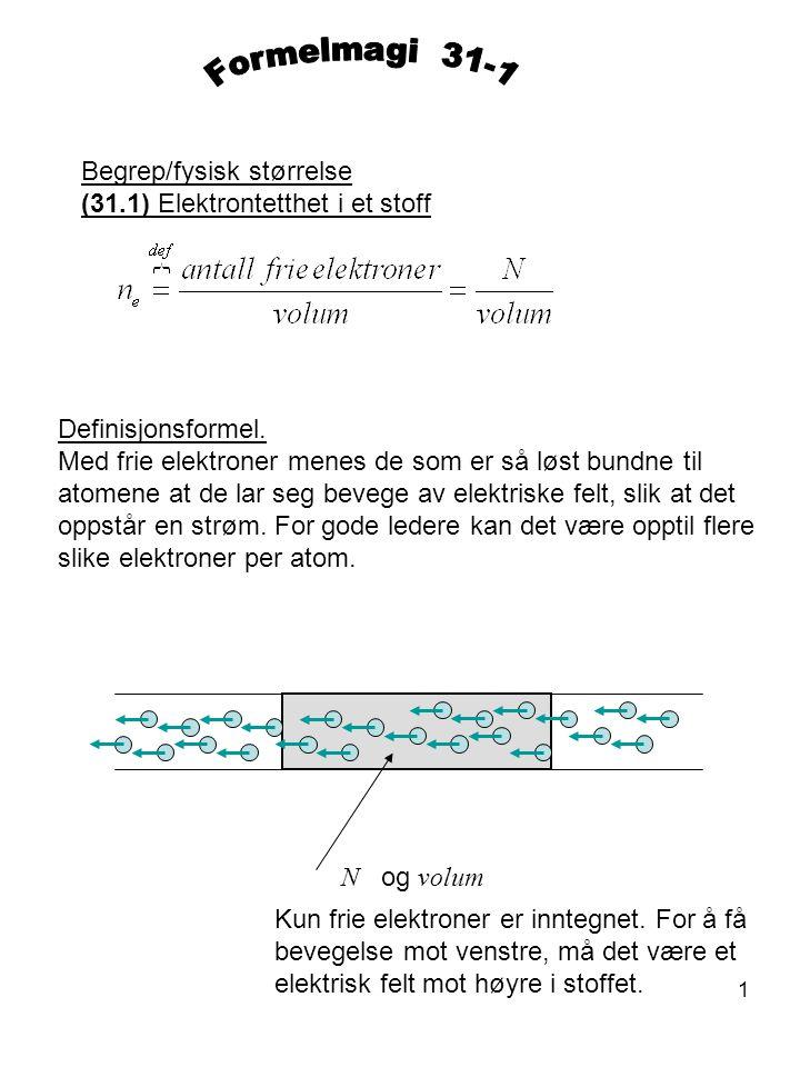 Formelmagi 31-1 Begrep/fysisk størrelse