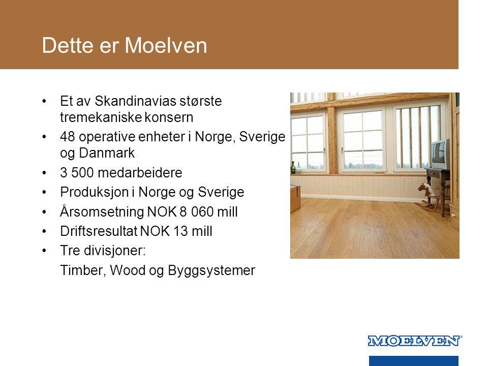 Dette er Moelven Et av Skandinavias største tremekaniske konsern