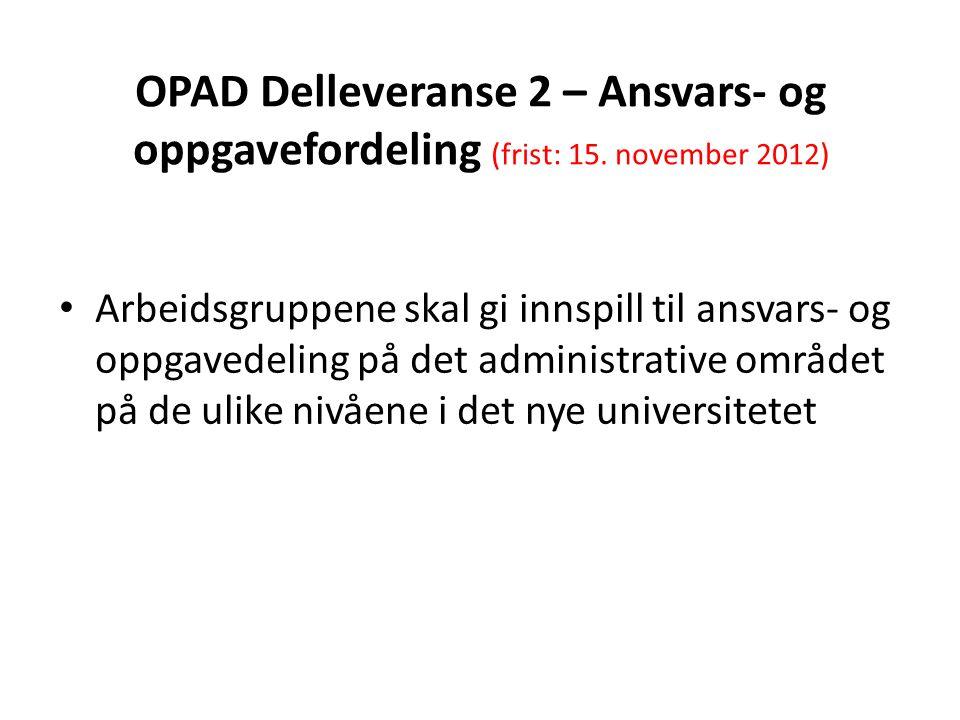 OPAD - Opplæring, ansvarskart