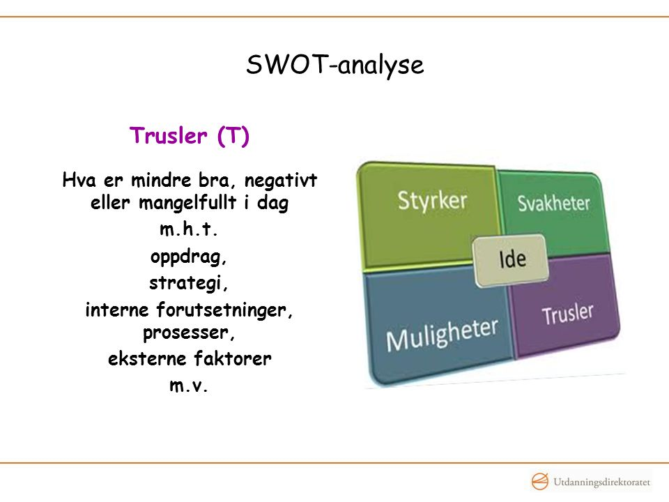 SWOT-analyse Trusler (T)