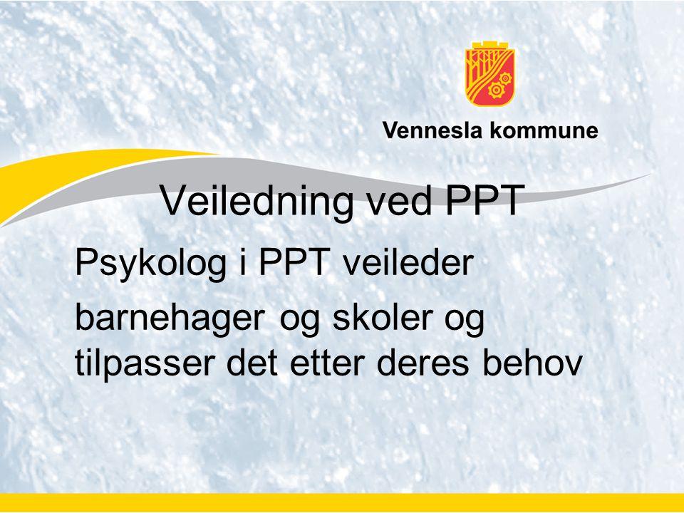 Veiledning ved PPT Psykolog i PPT veileder