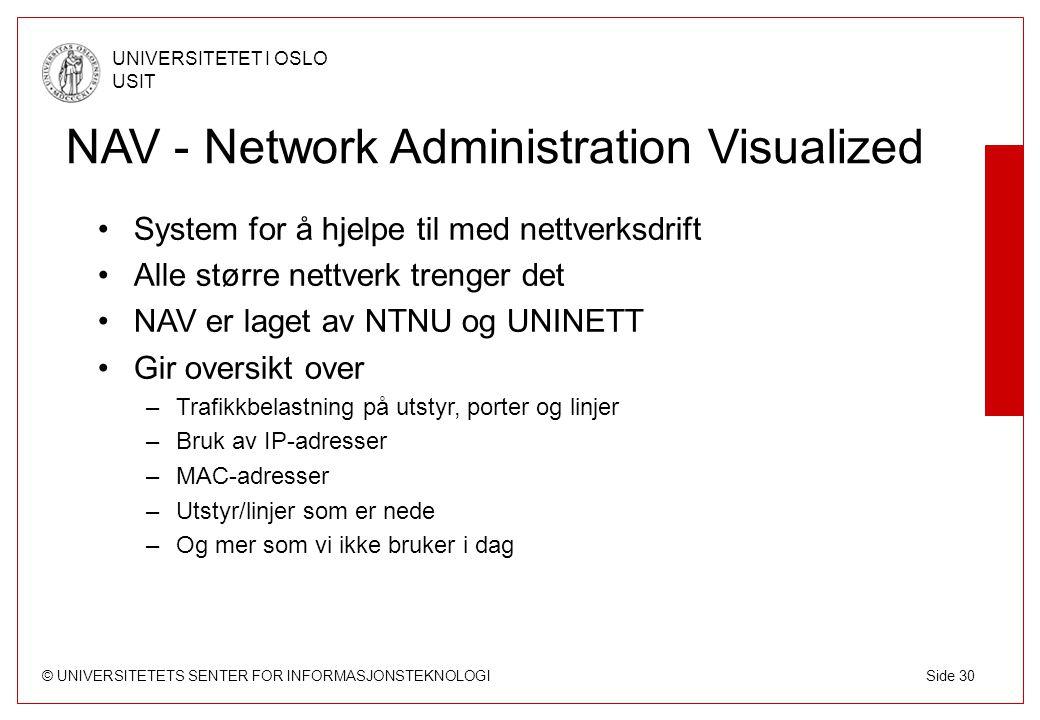 NAV - Network Administration Visualized