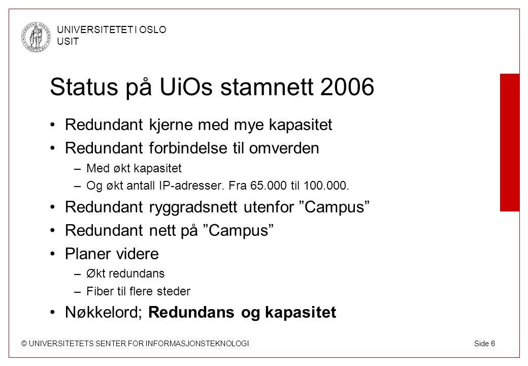 Status på UiOs stamnett 2006