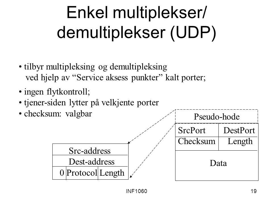 Enkel multiplekser/ demultiplekser (UDP)