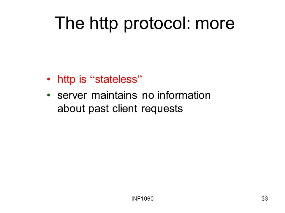 The http protocol: more