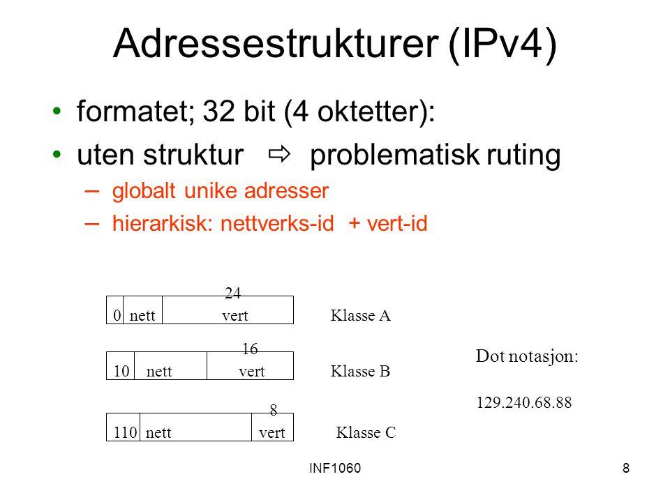 Adressestrukturer (IPv4)