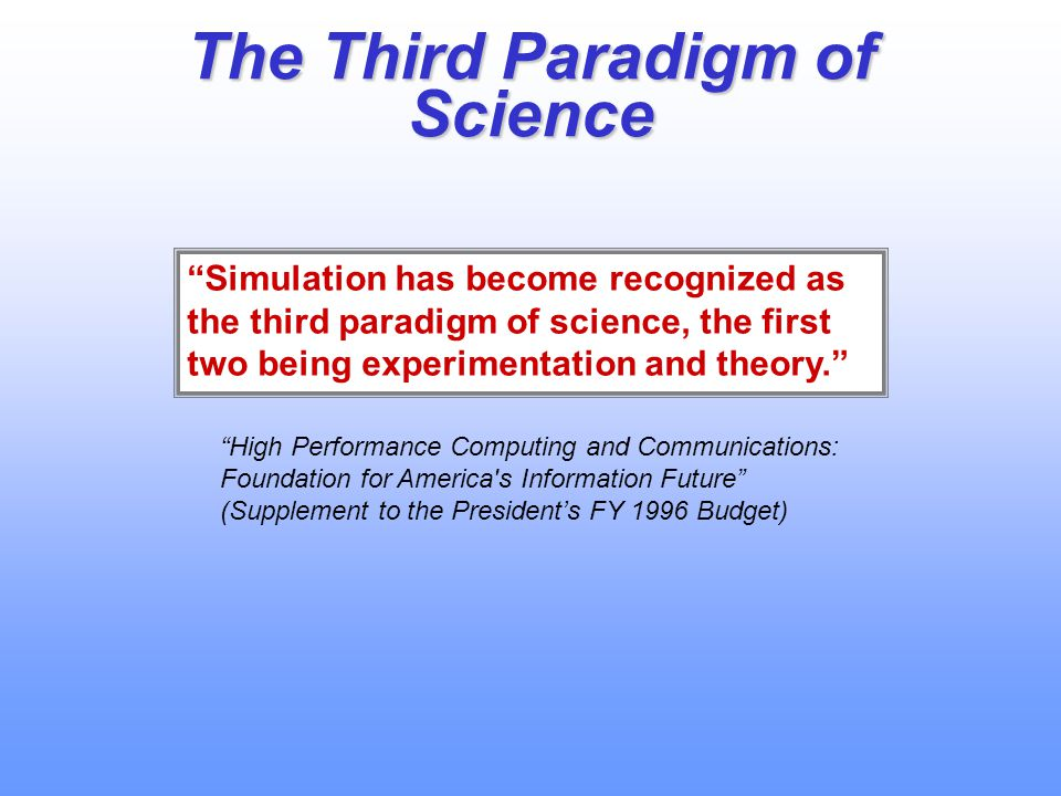 The Third Paradigm of Science