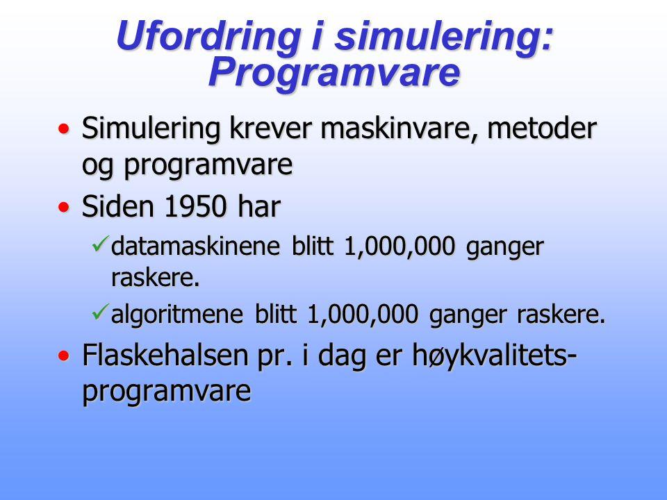 Ufordring i simulering: Programvare