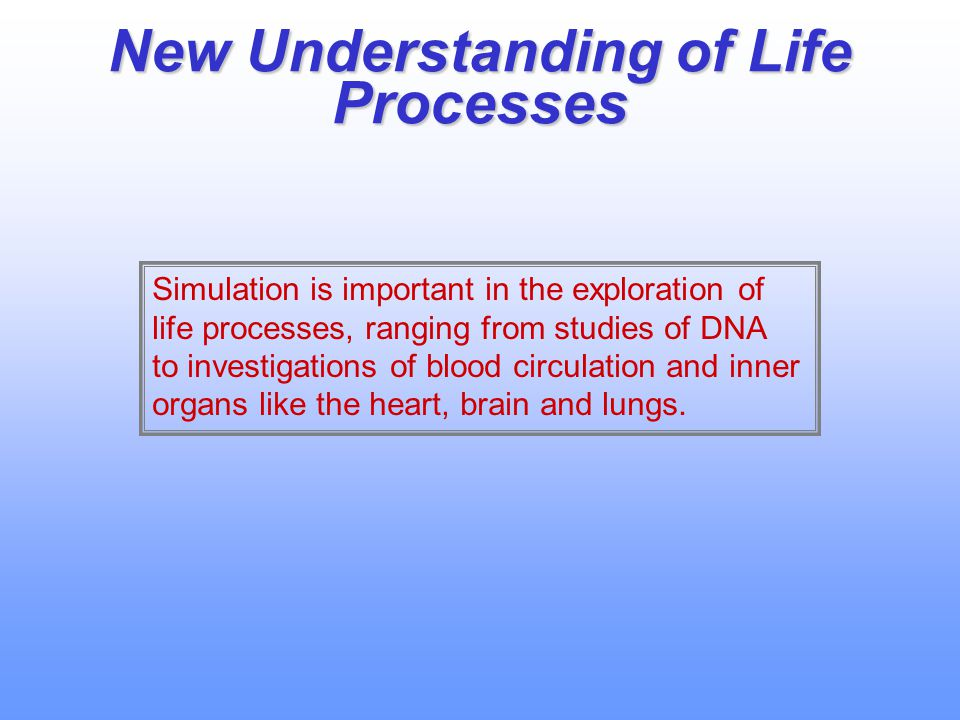 New Understanding of Life Processes