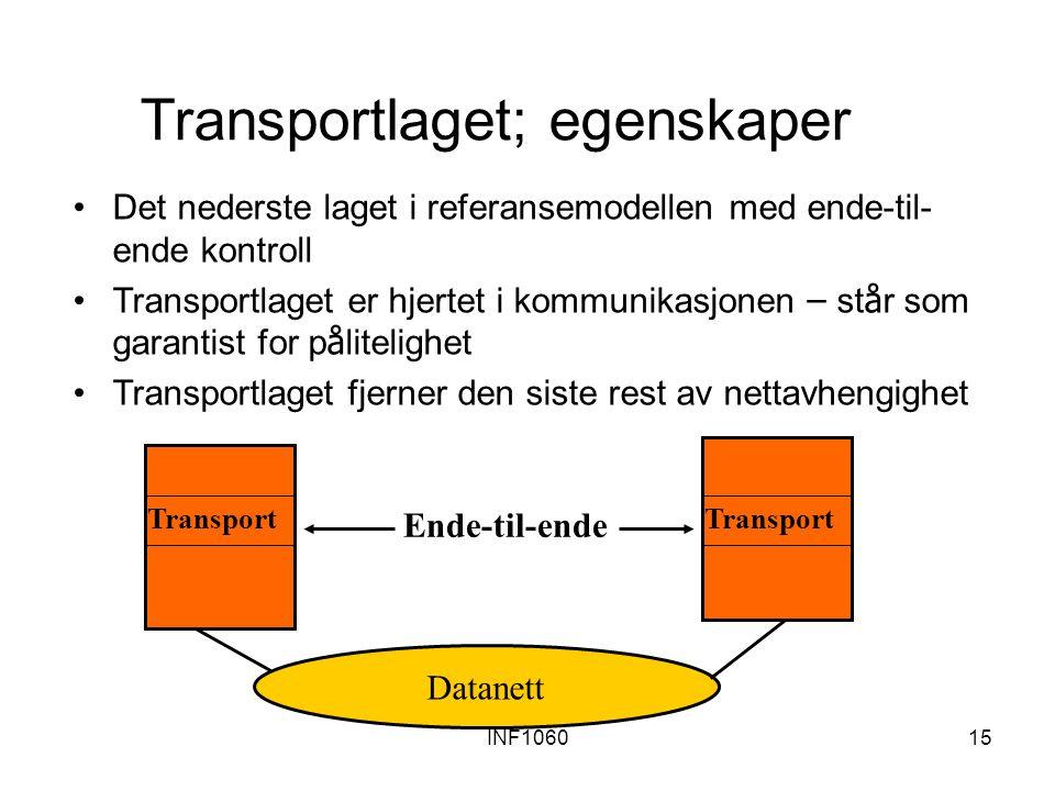 Transportlaget; egenskaper