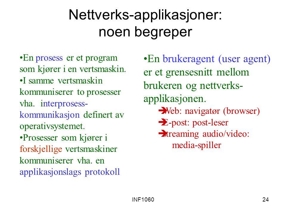Nettverks-applikasjoner: