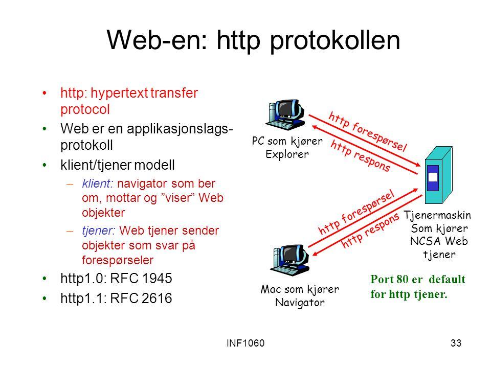 Web-en: http protokollen