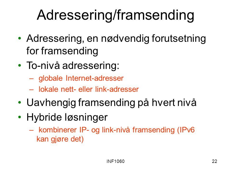 Adressering/framsending