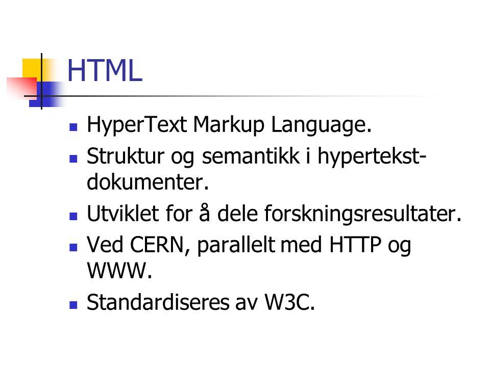HTML HyperText Markup Language.