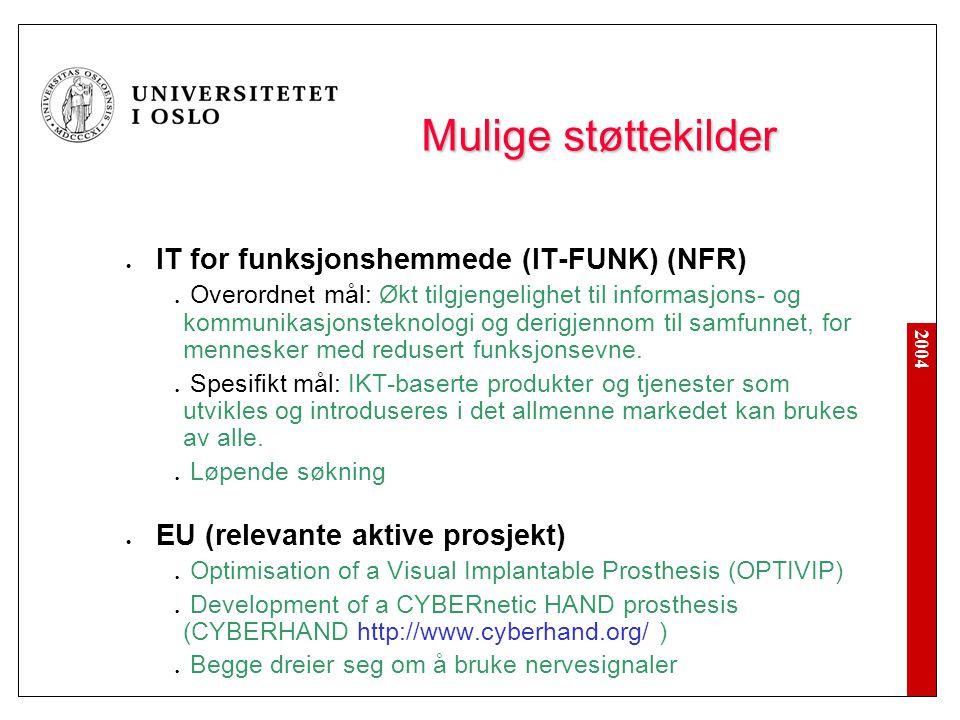 Mulige støttekilder IT for funksjonshemmede (IT-FUNK) (NFR)