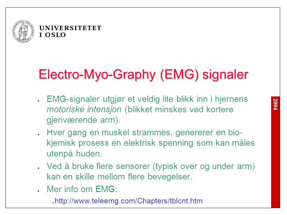 Electro-Myo-Graphy (EMG) signaler