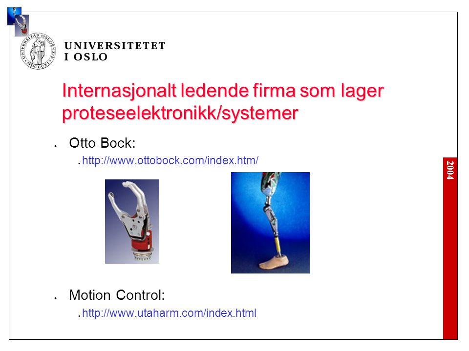 Internasjonalt ledende firma som lager proteseelektronikk/systemer