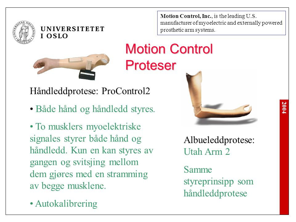Motion Control Proteser