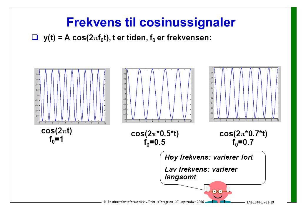 Frekvens til cosinussignaler