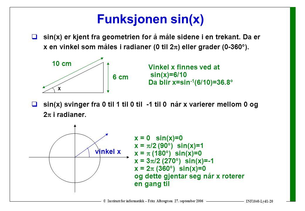 Funksjonen sin(x)
