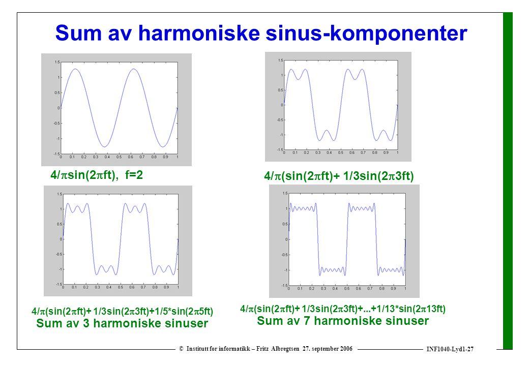Sum av harmoniske sinus-komponenter