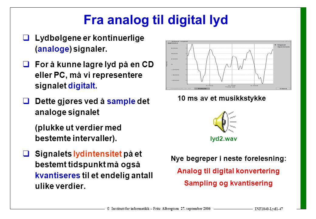 Fra analog til digital lyd