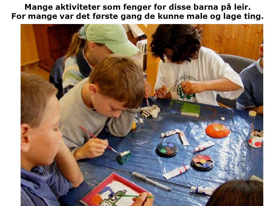 Mange aktiviteter som fenger for disse barna på leir