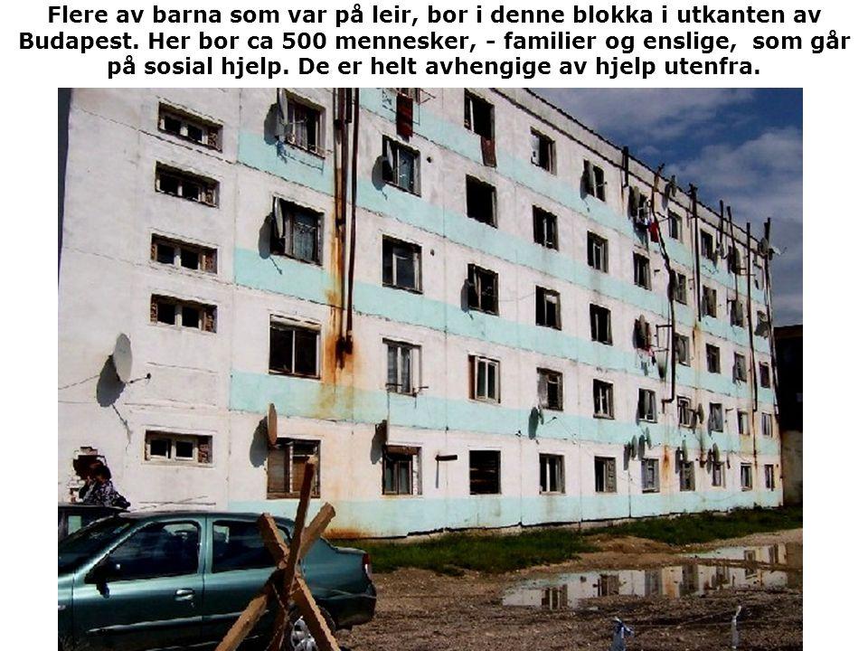 Flere av barna som var på leir, bor i denne blokka i utkanten av Budapest.