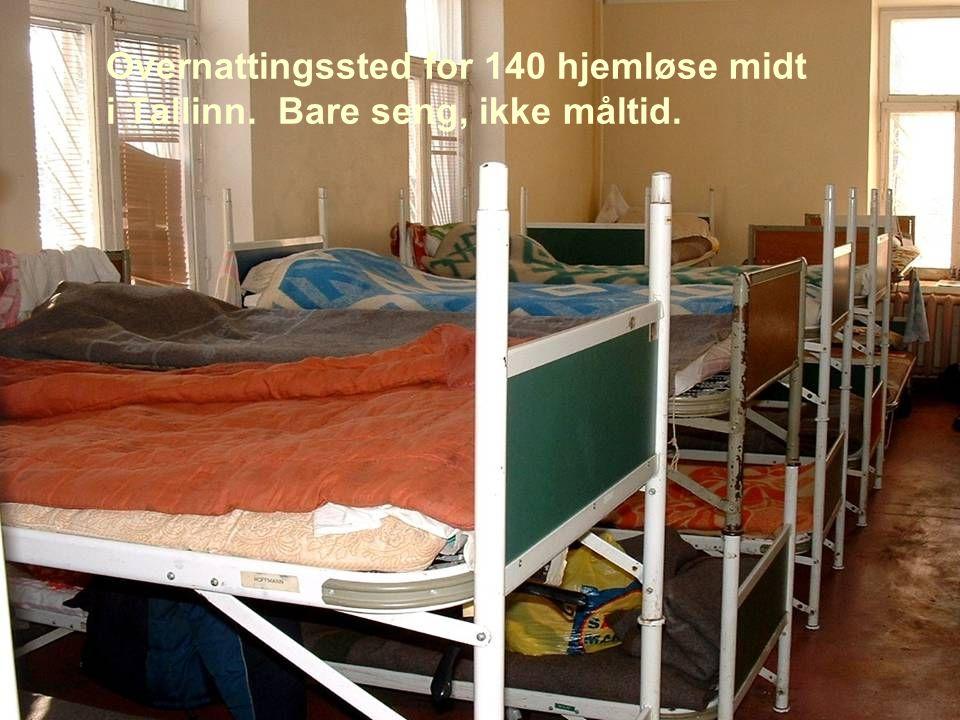 Overnattingssted for 140 hjemløse midt i Tallinn