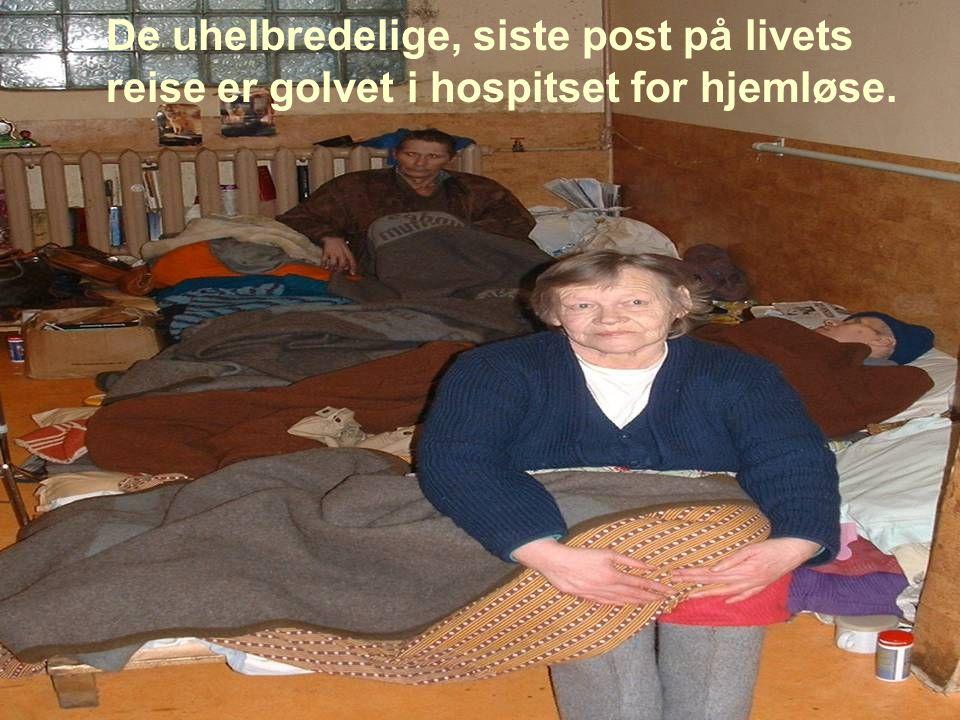 De uhelbredelige, siste post på livets reise er golvet i hospitset for hjemløse.