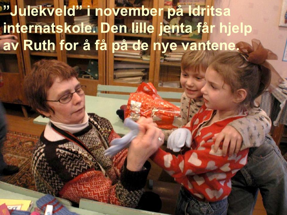 Julekveld i november på Idritsa internatskole